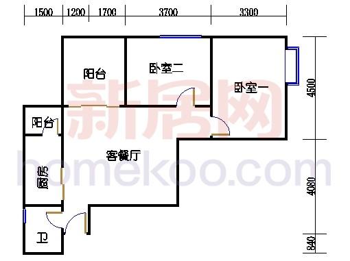 A栋3-13层(单层)01单位