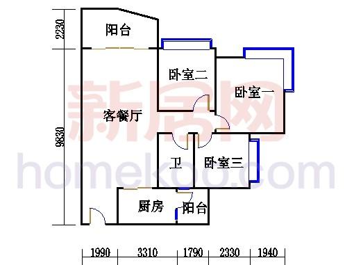 A4号楼三至十七层05单元