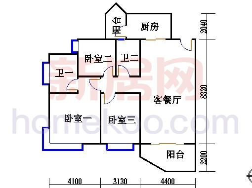 C2标准层03单元