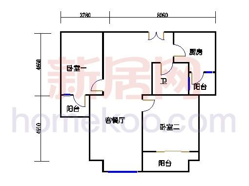 2#楼标准层平面图A16单元