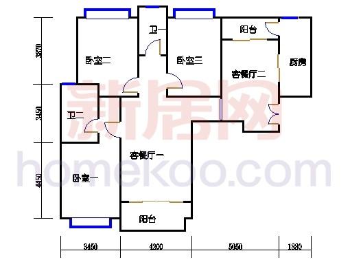 4#楼标准层B12单元