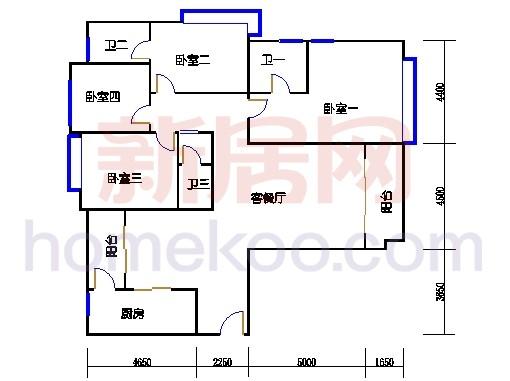 4#楼标准层C3单元