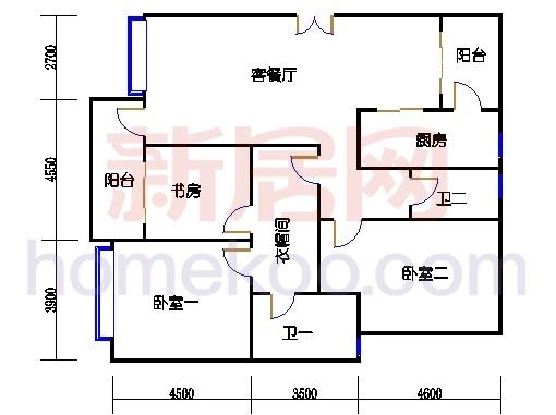 5#楼标准层B5单元