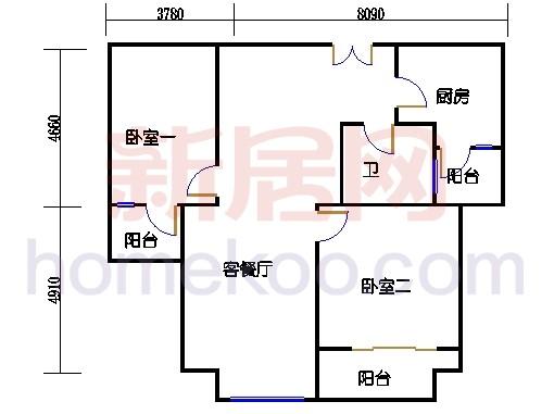 5号楼标准层A5单元