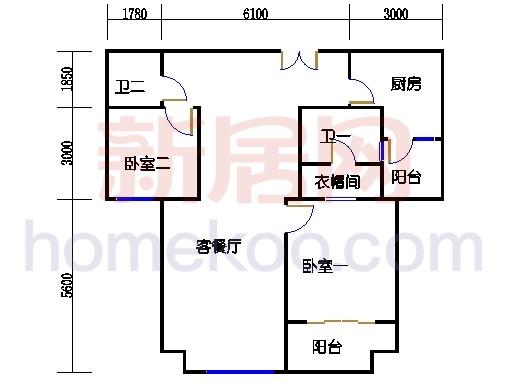 5号楼标准层A4单元