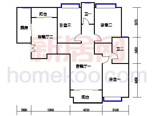 7#楼标准层B15单元