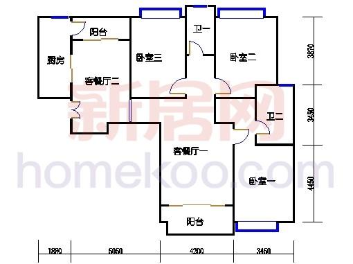 8#楼标准层B8单元