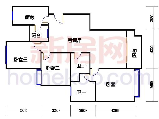 8#楼标准层B7单元