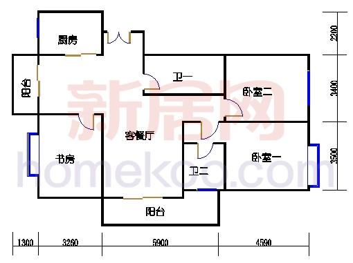 3号楼2-10层A单元