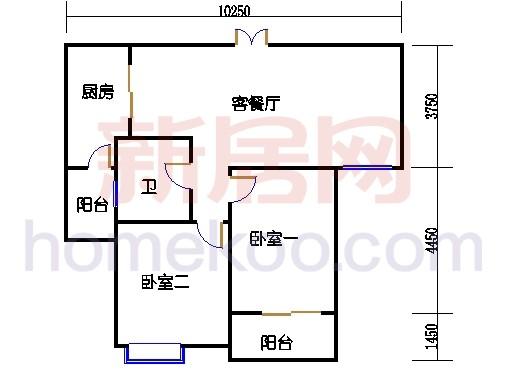 3号楼2-11层B单元
