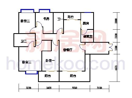 一期北区1号楼奇数层1-b1单位
