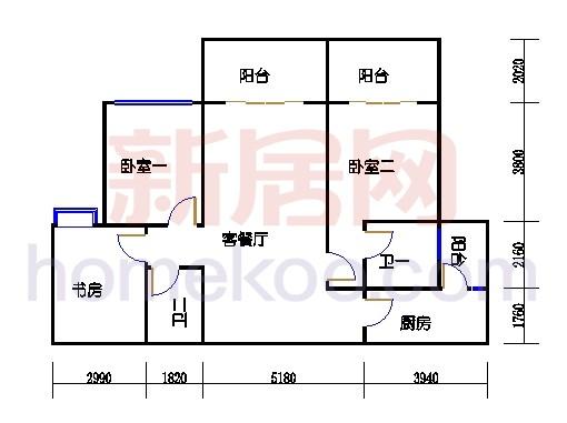 一期北区6号楼奇数层6-b1单位