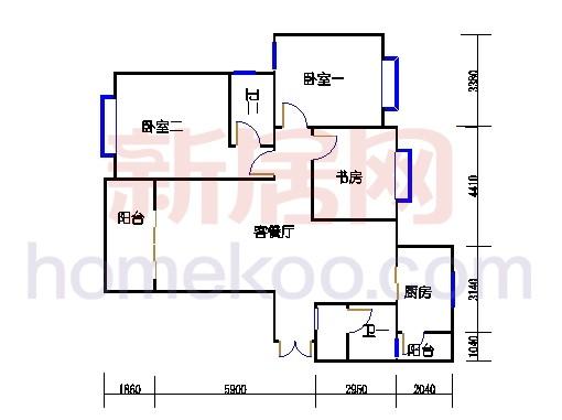 一期北区6号楼奇数层6-c2单位