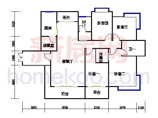 一期南区6号楼奇数层6-a1单位