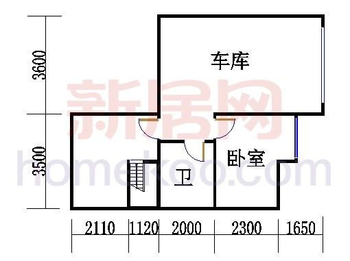 E4型排屋西边地下层
