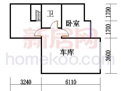 E4型排屋中间地下层