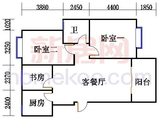 丹虹苑2#3#楼B6单元