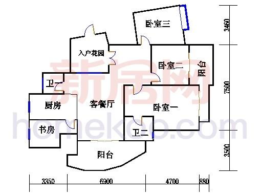 枫江苑2#楼单数层A4单元