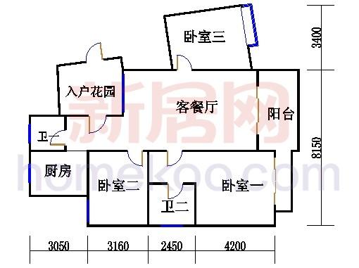 枫江苑2#楼双数层B4单元