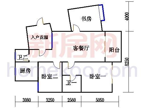 枫江苑2#楼单数层C4单元