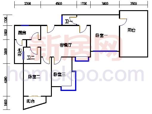 2-3层01室