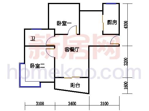 4层04室