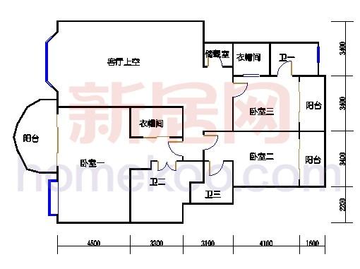 F(G)栋标准户型二层02单位