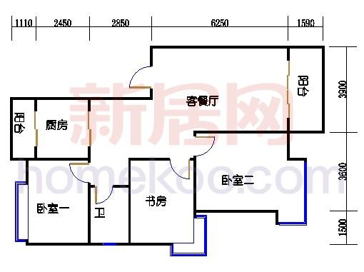 2-9层C1单元