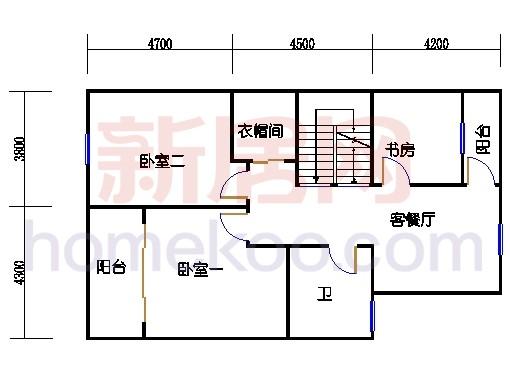 联排别墅C二层