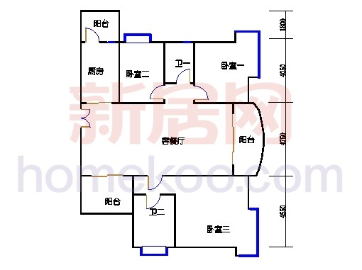 B(C、E)标准层03单元