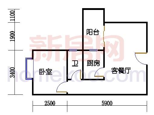 C栋2-12层04单位