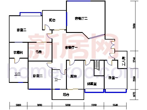 E2、12栋11-12层02单位复式一层