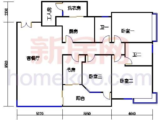 E2、12栋3-6层01单位