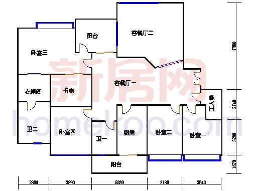 E2、12栋3-6层02单位