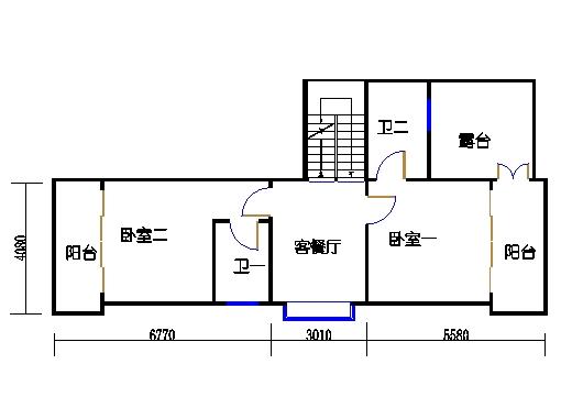 蝶湖湾C3-b2单元二层