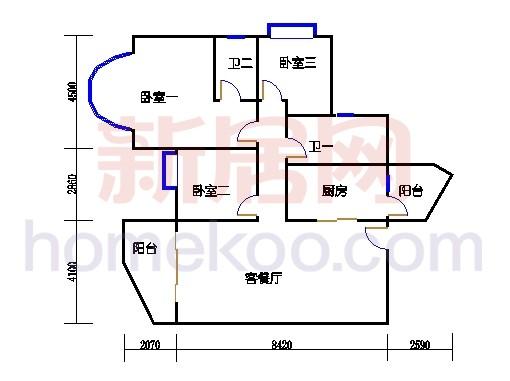 自在豪庭1、2、3、4栋01单位