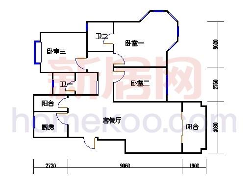 二期05、09、10栋三至十层C1单元
