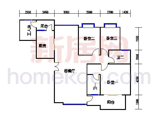 宝明阁1梯3-19,20-22层01单元