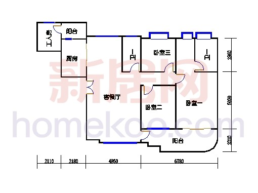 彩明阁1梯2-21,22-23层01单元