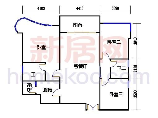 彩明阁1梯2-23,24-25层02单元