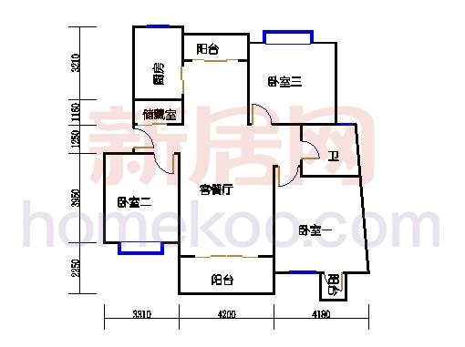 彩明阁1梯2-21,22-24层03单元