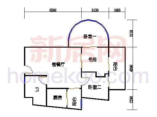 1号楼6-23层3单位