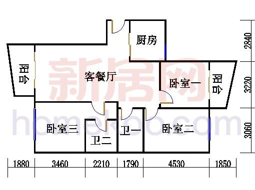 6#楼6-22层E反单位