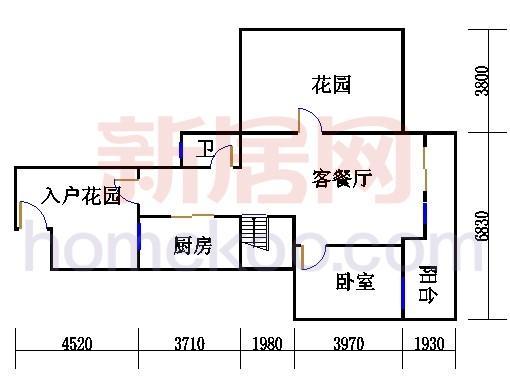 2-3层3A-f单元复式首层