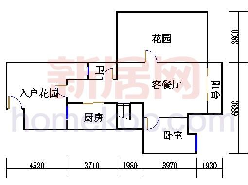 2-3层3E-fa单元复式首层