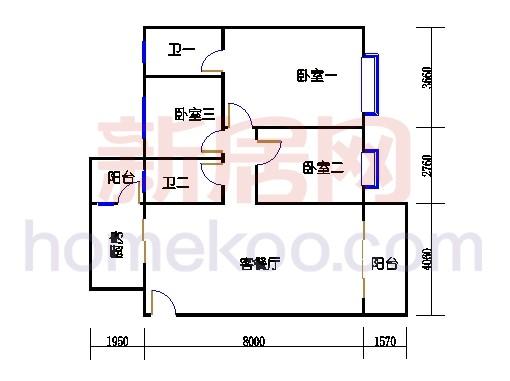 东瀚园三座2梯4-8层03单元