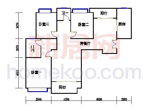 7号楼4-12层B16单元