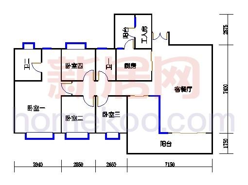 星怡居D栋4-16层02单元