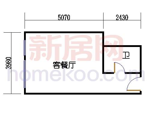 5层B-521单元