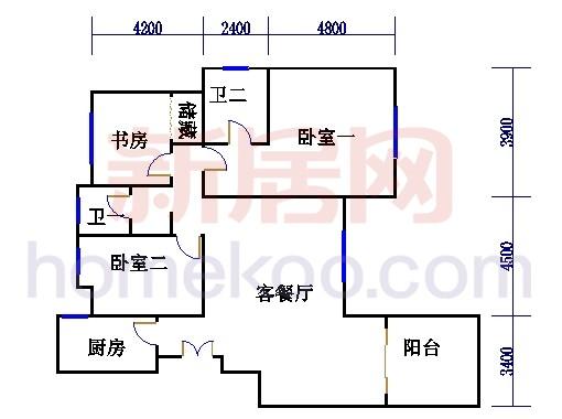 2号2楼B户型01室
